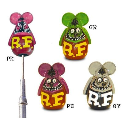 (I LOVE樂多)RAT FINK RF 汽車天線芬克鼠公仔