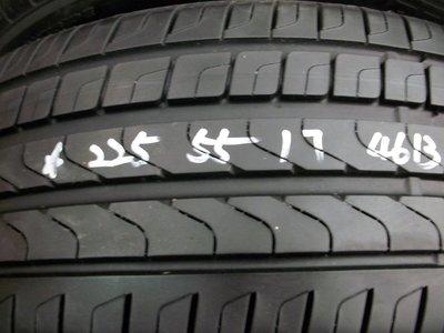 【宏勝輪胎】中古胎 落地胎 維修 保養 底盤 型號:225 55 17 倍耐力新P7 4條