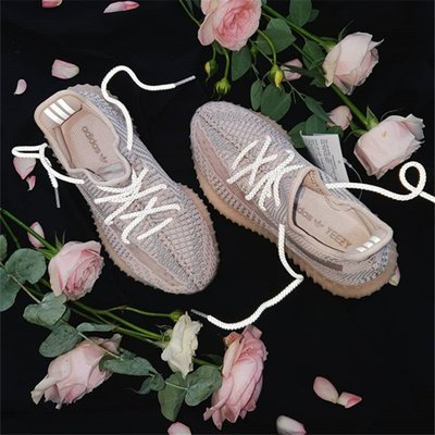 代購 ☆HAru☆ ADIDAS YEEZY BOOST 350 V2 SYNTH 粉天使 鞋帶反光 FV5578