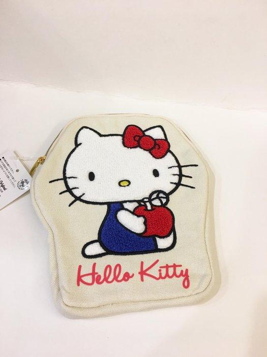 ^燕子部屋 ^三麗鷗正版 【Hello Kitty】刺繡收納包 筆袋