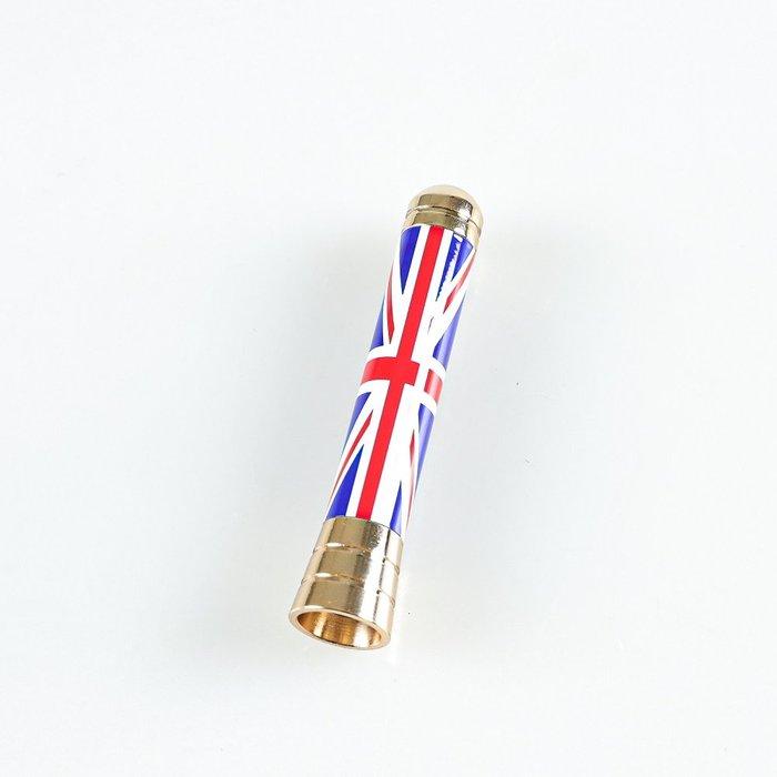 紅色聯合傑克+金色螺絲 On款式 無線電天線 寶馬迷你Mini Cooper用 2001-2017年適用