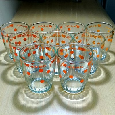 《NATE》台灣懷舊早期水杯【味全奶粉】玻璃杯1只...(70年代普普風)