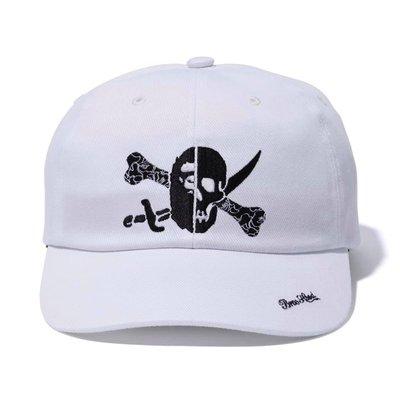 NEIGHBORHOOD X BAPE NHBP. DENIM CAP 雙刀骷髏 猿人 白色 帽子