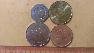 155--黎巴嫩硬幣--4枚一套