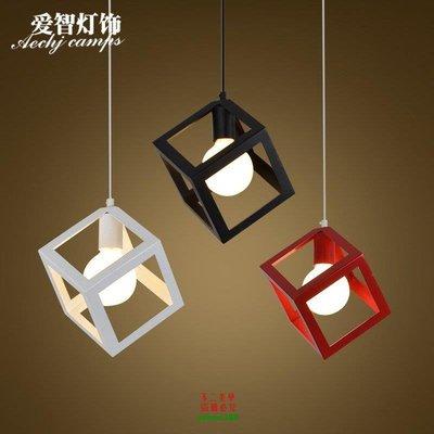 【美學】餐廳吊燈 地中海工業復古簡約單頭三頭餐廳燈 現代臥室燈MX_172