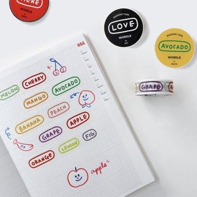 R精品手錶配件 GMZ 韓國可愛字母膠帶美紋紙手帳裝飾貼紙膠帶一卷裝Masking Tape