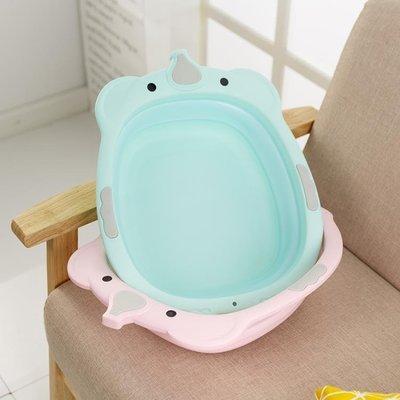 嬰兒洗臉盆可折疊臉盆新生兒寶寶用品嬰兒面盆兒童洗腳盆2個裝YXS