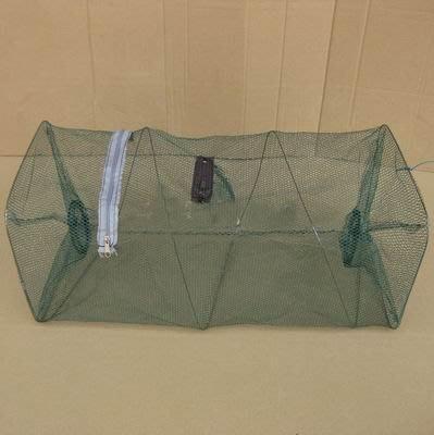 【折疊魚蝦籠-打開22*22*50-折疊22*22*1cm-8個/組】折疊魚網蝦籠蝦網 龍蝦籠 捕魚籠-76029