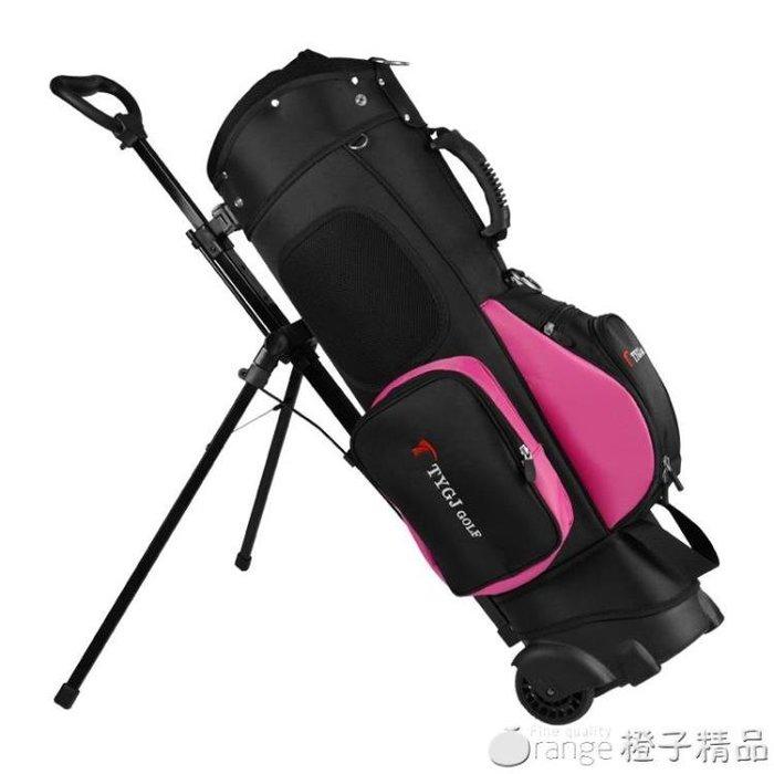 【特惠可開發票】TTYGJ高爾夫球包 拖輪球包 拉桿滑輪雙肩背支架包 百瑞盛