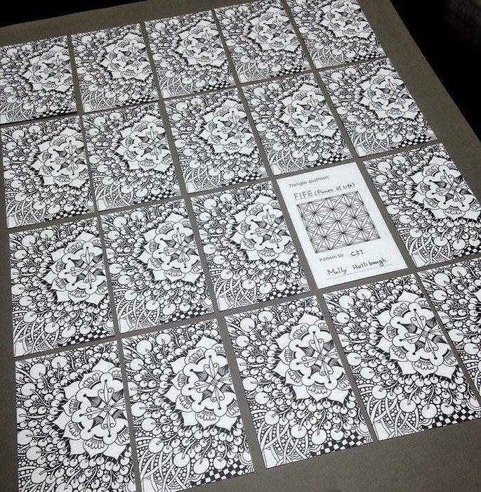 禪繞空白圖樣卡(100張)