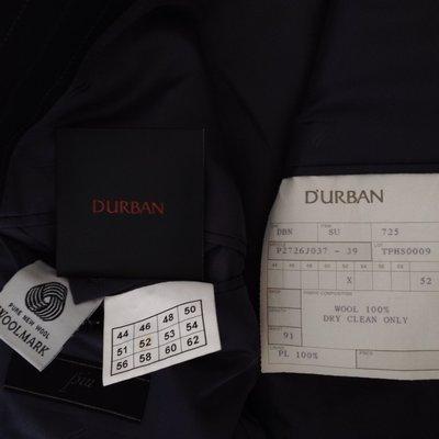 歐碼52 D  'URBAN羊毛黑色單排三扣成套西裝