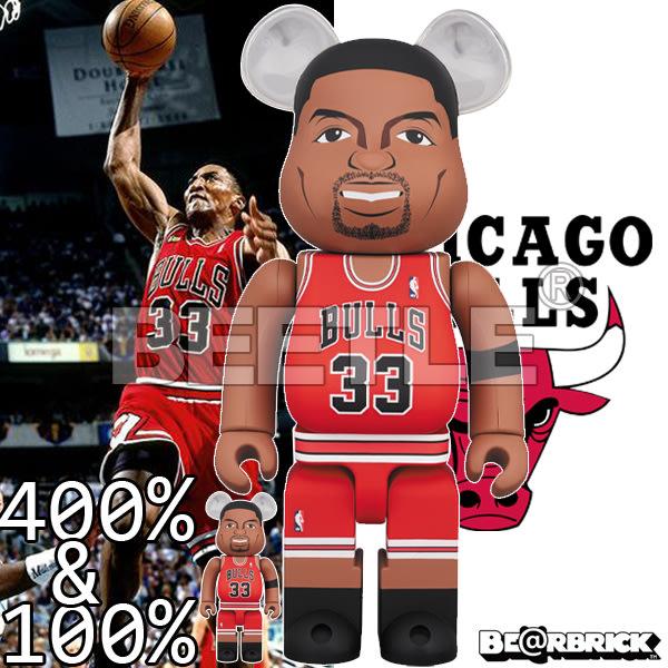 BEETLE BE@RBRICK NBA LEGENDS 傳奇球星 PIPPEN 皮朋 庫柏力克熊 400 100%