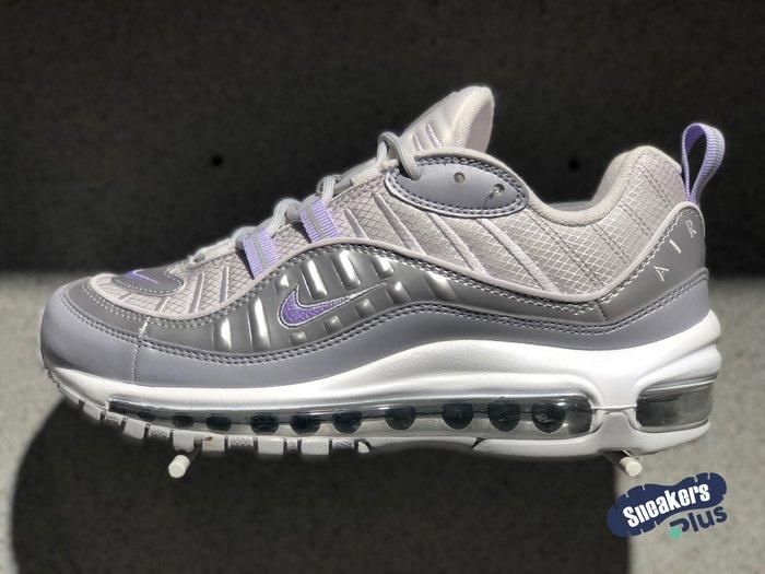 ➕sneakersplus➕Nike Wmns Air Max 98 女 銀紫 氣墊 復古 慢跑鞋 BV6536-001