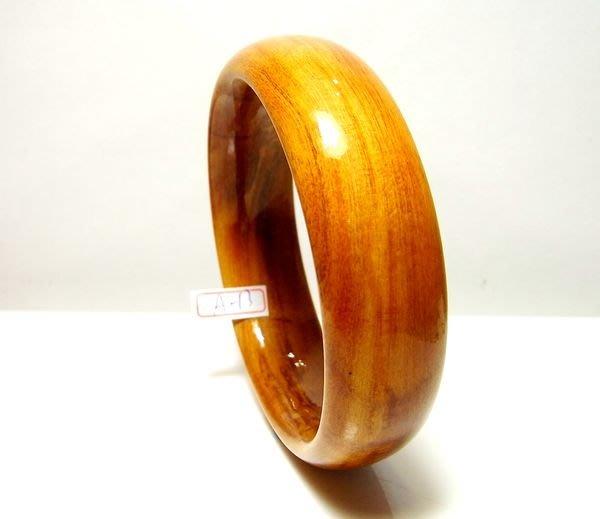 小風鈴~天然嚴選檜木閃花20mm黃金樟木手鐲/檜木手環(大手圍:20.5cm) A-13