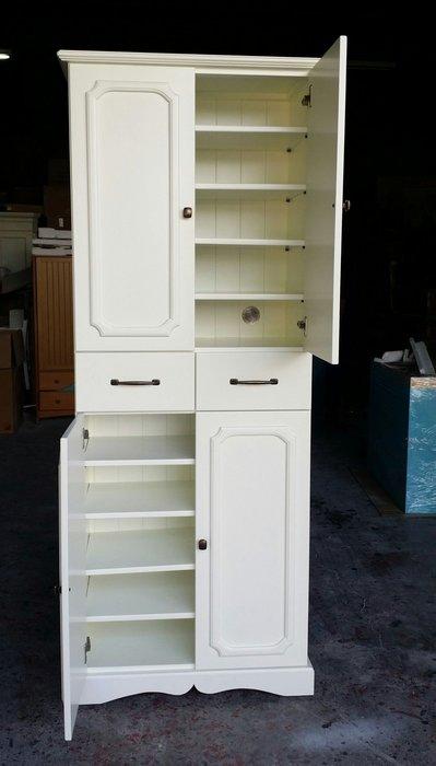 美生活館--鄉村家具訂製 客訂 全原木 象牙白 鞋櫃 隔間櫃  置物櫃.收納櫃 玄關櫃 --也可修改尺寸與顏色再報價