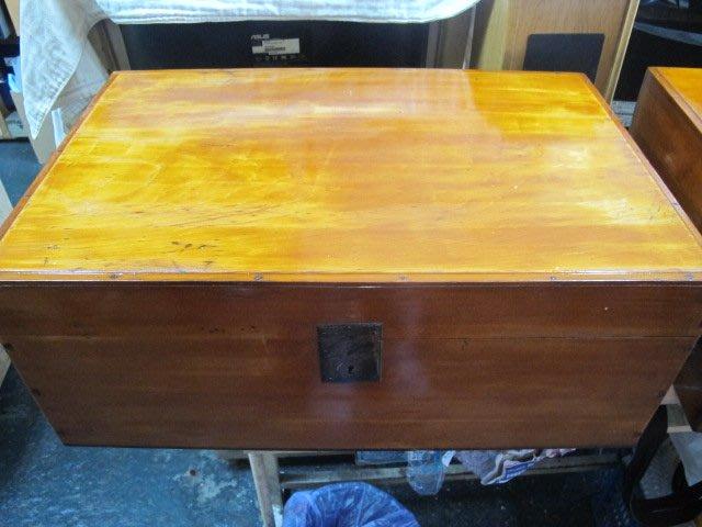 二手舖 NO.2705 天然檜木 黃檜 喜諾奇 hinoki 閃花 紋路漂亮 古早整理箱 值得收藏