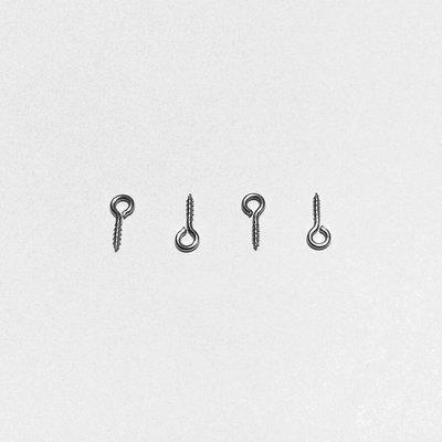 【優品盛】10x4mm 不鏽鋼 羊眼釘 不生銹 不掉漆 不銹鋼 羊眼針 掛針 螺絲釘 掛釘 掛針 問號釘 白鐵 材質 圈