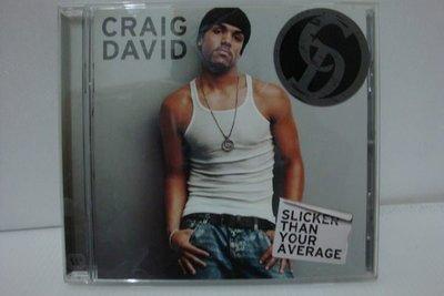 【銅板交易】二手原版CD♥Craig David / Slicker Than Your Average 克雷格大衛 / 暗藏玄機