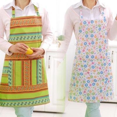 【歐慕家居】廚房圍裙家務防水防油防污做飯洗衣無袖成人罩衣女士工作服日韓版