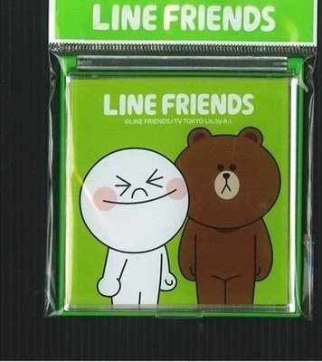全新LINE FRIENDS 正版授權 兔兔熊大 雷射立鏡 隨身鏡 化妝鏡
