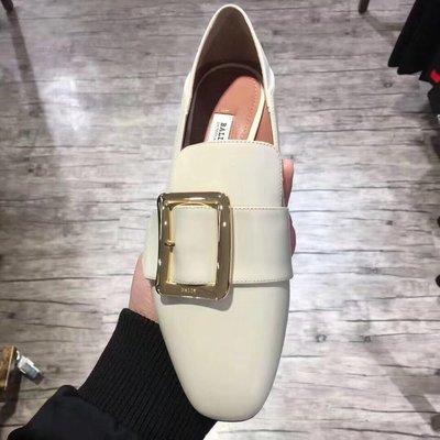 【全新正貨私家珍藏】Bally 女款經典方扣圓頭可踩福樂平底鞋
