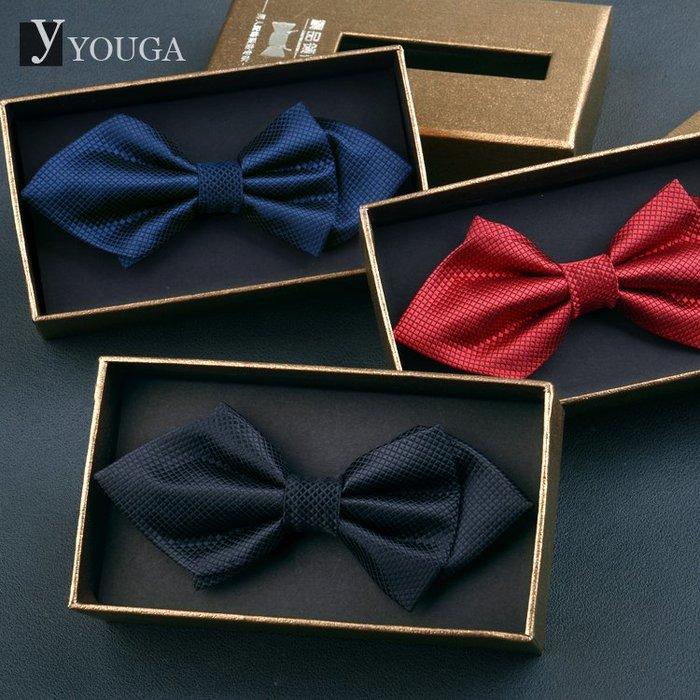 伴郎領結男正裝結婚韓版蝴蝶結男士尖角英倫領結新郎婚禮 禮盒裝