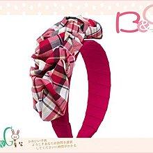 【B& G童裝】正品美國進口Crazy8 Plaid Ruffle Headband皺褶花紅色寬版髮箍