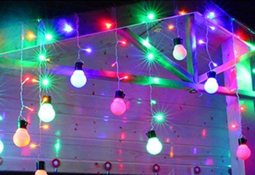 {大圓球彩色燈泡條}} LED燈串 庭院婚禮節慶裝飾燈