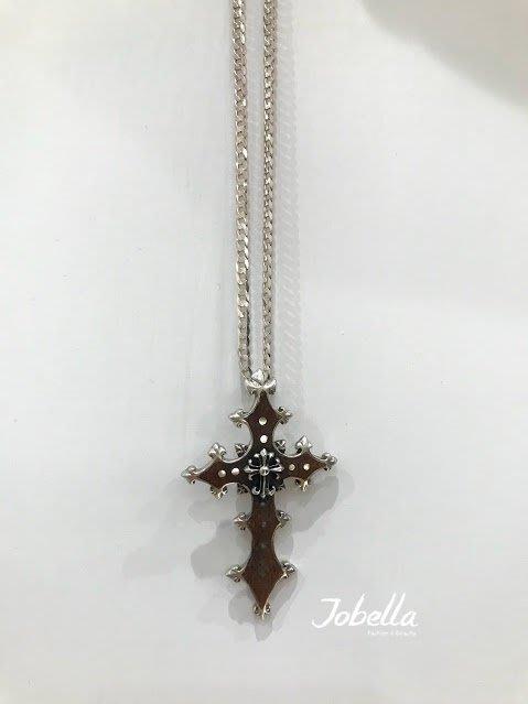 ✽JoBella 日本空運 日本代購 日貨✽ 925銀 克羅心鑲木十字架墜子 現貨