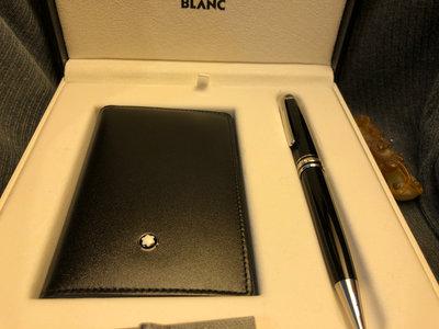 (主管託售) 萬寶龍 Montblanc meisterstuck 小班原子筆/名片夾禮盒組