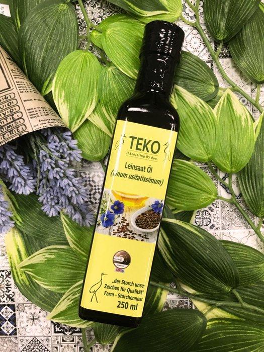 《小瓢蟲生機坊》鸛巢TEKO - 奧地利亞麻籽油 250ml 亞麻油 亞麻籽油 食用油 Omega-3