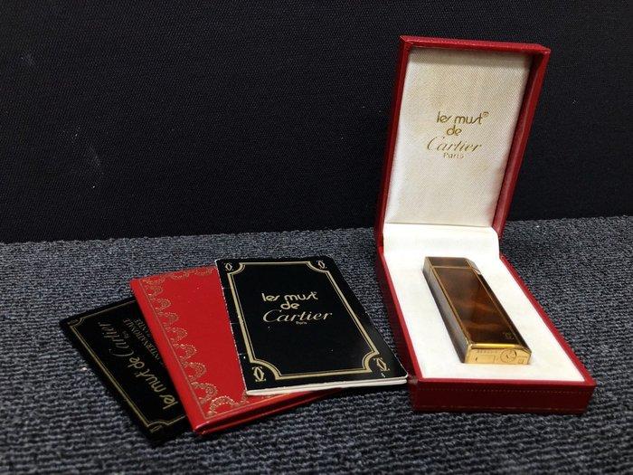 【JP.com】日本中古美品 CARTIER 卡地亞 打火機 五角形款 琥珀色