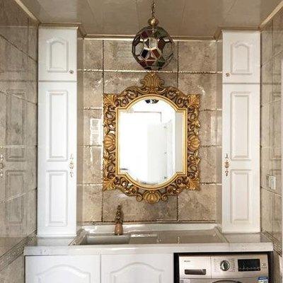 居家家 歐式浴室鏡衛浴鏡裝飾鏡子酒店賓館鏡子玄關鏡歐式鏡衛生間廁所鏡