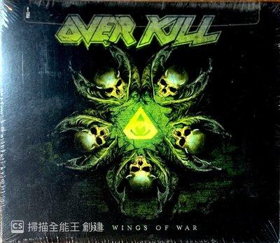 【搖滾帝國】美國鞭擊(Thrash)金屬樂團OVERKILL Wings Of War 2019發行 Digi版本專輯
