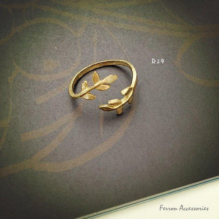 Ferron Accessories 琺隆  R29   桂冠戒指  訂製  復古  黃銅 VINTAGE