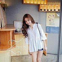 【ZEU'S】韓國氣質寬鬆流蘇邊上衣『 CD 04 03』【現+預】