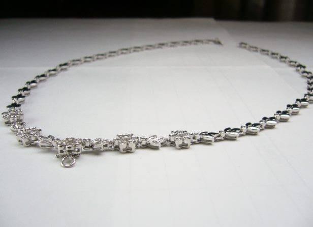吉宏精品交流中心]88顆 天然鑽石 白k金 豪華 項鍊(墬子)