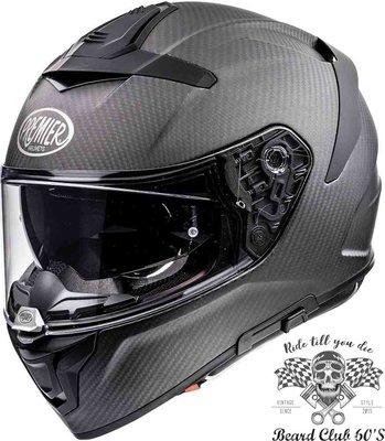 ♛大鬍子俱樂部♛ Premier® Devil Carbon BM 義大利 復古 消光 碳纖維 卡夢 全罩 安全帽 鴨尾