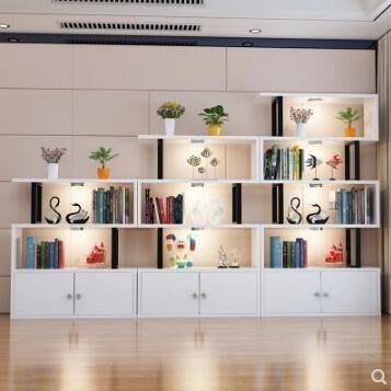 【全館免運】書架 簡易書櫃書架組合飄窗置物架兒童創意小格子櫃客廳隔斷架簡約現代 【奇妙城】
