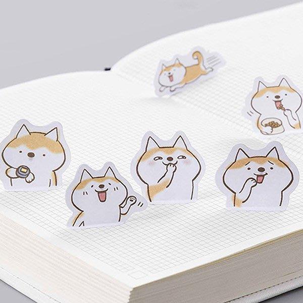 《Jami Honey》【JC2538】糖詩貓犬二重奏萌萌的撒嬌哈士奇盒裝貼紙 (45入)