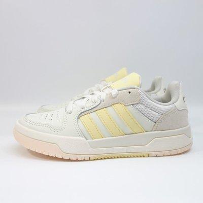 [麥修斯]ADIDAS ENTRAP 愛迪達 休閒鞋 板鞋 經典 復古 米黃 女款 FW3494