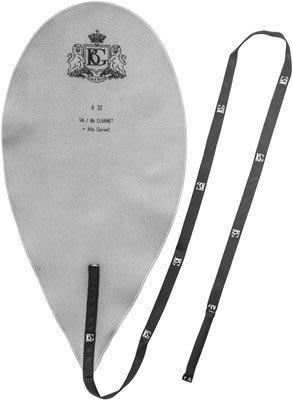 【六絃樂器】全新法國 BG A32 豎笛管身通條布 / 絲質纖維 吸水性強 可以水洗