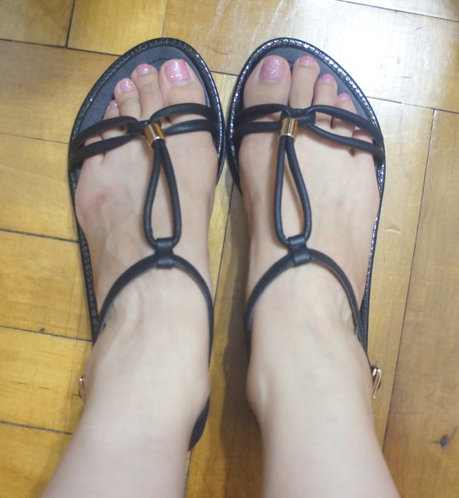 ( 韓國現貨款 ) 黑色涼鞋 - Size 24.5