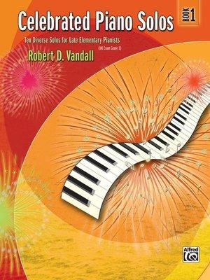【599免運費】Celebrated Piano Solos, Book 1 Alfred 00-881124