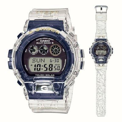 CASIO G-SHOCK 25週年 35th 手錶 紀念錶 Dolphin & Whale 2019 鯨豚 藍鯨 海洋保育  GW-6903K-7 透明 藍色