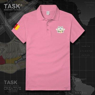 TASK 喀麥隆空軍純棉短袖t恤Cameroon特種兵翻領POLO衫運動裝