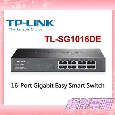 『高雄程傑電腦』TP-LINK TL-SG1016DE 16Port Gigabit Smart PoE+ Switch