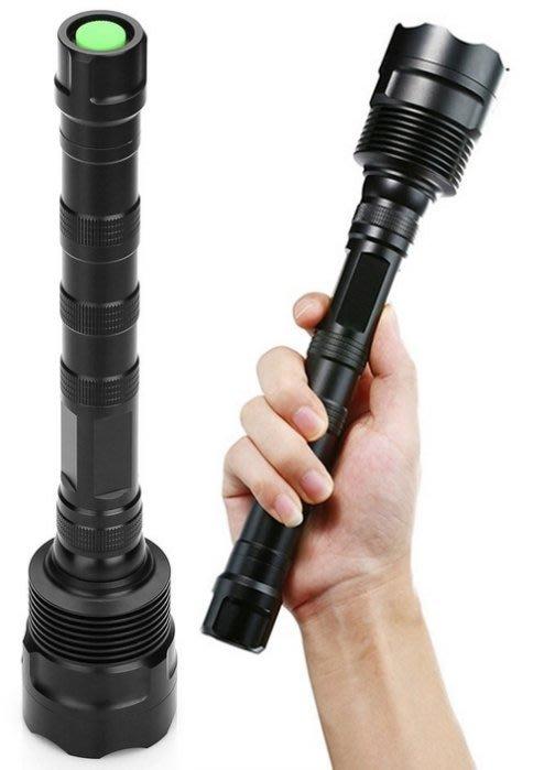 15燈 15T6 五檔LED強光手電筒 15000流明,社區保全 守夜遊 露營 徒步 探洞 打獵,全新 簡易包裝
