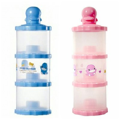 KUKU 酷咕鴨 獨立式 副食品 奶粉罐 (藍/粉)