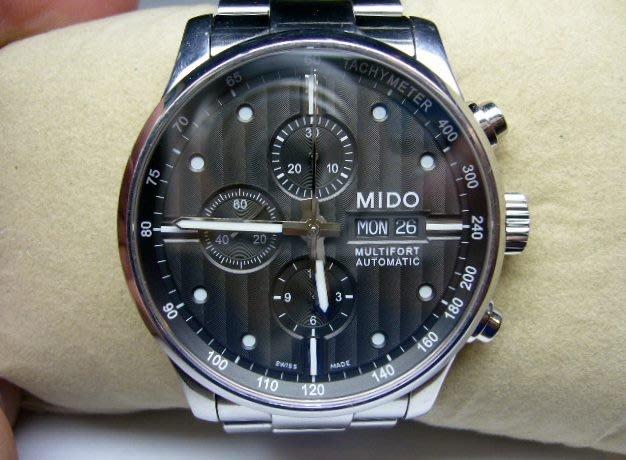 [吉宏精品交流中心]MIDO 美度 先鋒系列 三眼 不鏽鋼 自動機械 碼錶